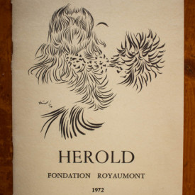 Exposition (Jacques) Herold (catalogue d`exposition, Fondation Royaumont, 1972)
