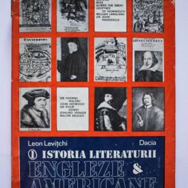 Leon Levitchi - Istoria literaturii engleze si americane (vol. I, editie hardcover)