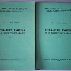 Leon Levitchi - Literatura engleza de la inceputuri pana la 1648 (2 vol.)