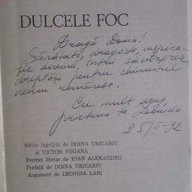 Leonida Lari - Dulcele foc (cu autograf)