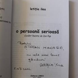 Letitea Ilea - O persoana serioasa (cu autograf)