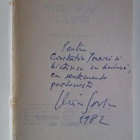 Marin Sorescu - Viziunea vizuinii (cu autograf)