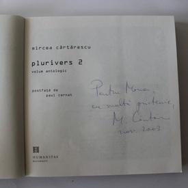 Mircea Cartarescu - Plurivers (2 vol., vol. II cu autograf/signed edition)
