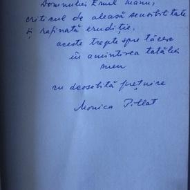 Monica Pillat - Imaginatia ecoului (cu autograf)