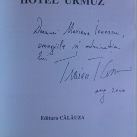 Traian T. Cosovei - Hotel Urmuz (cu autograf)