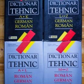 Wilhelm Theiss, Maria-Liliana Theiss - Dictionar tehnic german-roman, roman-german (4 vol., editii hardcover)