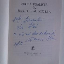 Adriana Iliescu - Proza realista din secolul al XIX-lea (cu autograf)