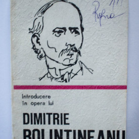 Teodor Vargolici - Introducere in opera lui Dimitrie Bolintineanu