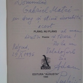 Adam Puslojic - Plang, nu plang (cu autograf)