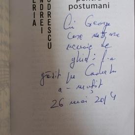 Andrei Codrescu - Ghid DADA pentru postumani (cu autograf)