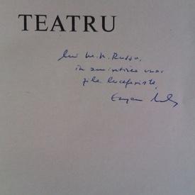Eugen Barbu - Teatru (cu autograf)