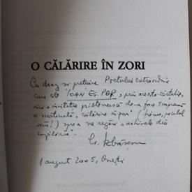 Gheorghe Izbasescu - O calatorie in zori (cu autograf si scrisoare notata pe volum)