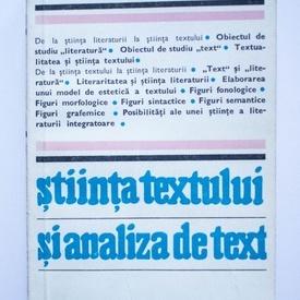 Heinrich F. Plett - Stiinta textului si analiza de text