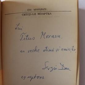Ion Minulescu - Cetiti-le noaptea (cu autograful lui Sergiu Pavel Dan)