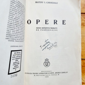 Mateiu I. Caragiale - Opere (editie princeps, interbelica)