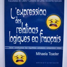 Mihaela Toader - L`expression des relations logique en francais