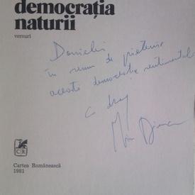 Mircea Dinescu - Democratia naturii (cu autograf)