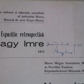 Nagy Imre - Expozitie retrospectiva / Gyujtemenyes kiallitasa / Exposition retrospective (editie trilingva, cu autograf)