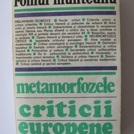 Romul Munteanu - Metamorfozele criticii europene