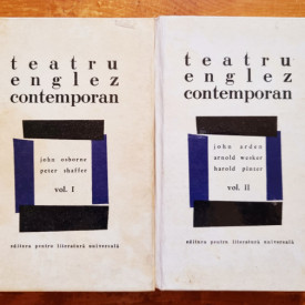 Teatru englez contemporan I-II (John Osborne, Peter Shaffer, John Arden, Arnold Wesker, Harold Pinter) (2 vol., editie hardcover)