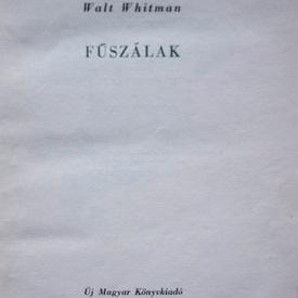 Walt Whitman - Fuszalak (editie hardcover)