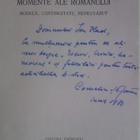 Cornelia Stefanescu - Momente ale romanului (cu autograf)