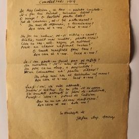 Stefan Aug. Doinas - Traducere inedita in manuscris (Kurt Tucholsky)