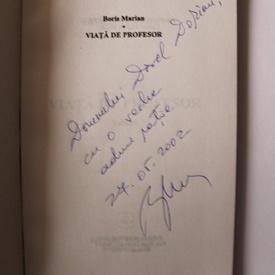 Boris Marian - Viata de profesor (cu autograf)