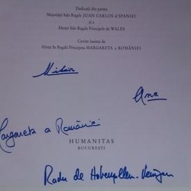Radu Principe de Hohenzollern-Veringen - Mihai I al Romaniei (cu autografele Familiei Regale a Romaniei: Mihai I al Romaniei, Ana a Romaniei, Principesa Margareta a Romaniei, Principele Radu al Romaniei)