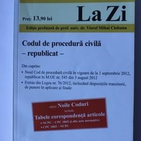 Codul de procedura civila (republicat)