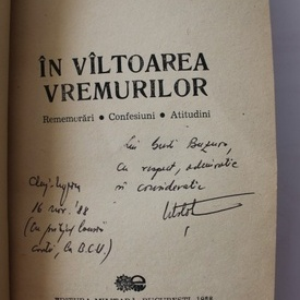 Constantin Mustata - In valtoarea vremurilor (cu autograf)