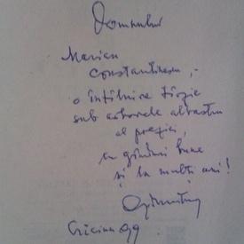 Geo Dumitrescu - Libertatea de a trage cu pusca si celelalte versuri (cu autograf)