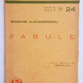 Grigore Alexandrescu - Fabule (editie interbelica)