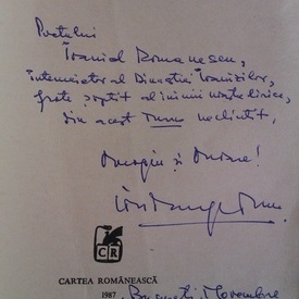 Ion Murgeanu - Turnul Onoarei (cu autograf)