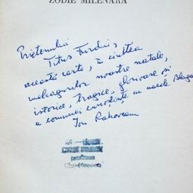 Ion Rahoveanu - Zodie milenara (cu autograf)