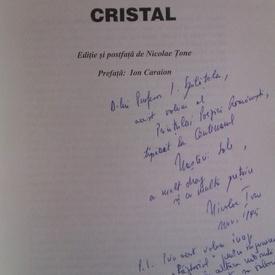 Ion Vinea - Moartea de cristal (cu autograful lui Nicolae Tone)