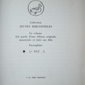 John Steinbeck - Nuits sans lune (editie hardcover, bibliofila, in limba franceza)