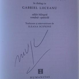 Mario Vargas Llosa in dialog cu Gabriel Liiceanu - Chipuri ale raului in lumea de astazi (editie bilingva, romano-spaniola, cu autograful lui Mario Vargas Llosa)