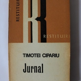 Timotei Cipariu - Jurnal (cu autograful Mariei Protase)
