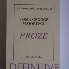 Toma George Maiorescu - Proze