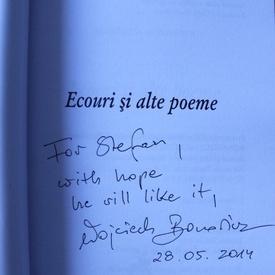 Wojciech Bonowicz - Ecouri si alte poeme (cu autograf)