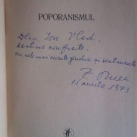 Z. Ornea - Poporanismul (cu autograf)