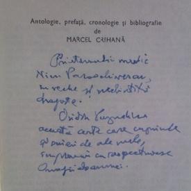 Biblioteca critica - Perpessicius (cu autograful scriitorului Ovidiu Papadima)