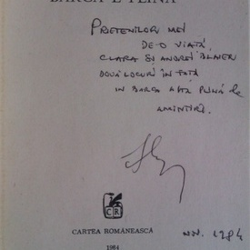 Iosif Naghiu - Barca e plina (cu autograf)