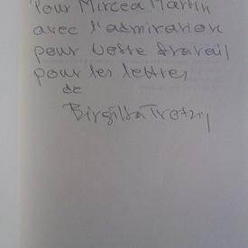 Birgitta Trotzig - Double vies (editie in limba franceza, cu autograf)