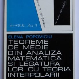 Elena Popoviciu - Teoreme de medie din analiza matematica si legatura lor cu teoria interpolarii