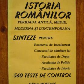 Prof. Marcela Nica - Istoria romanilor (perioada antica, medie, moderna si contemporana)