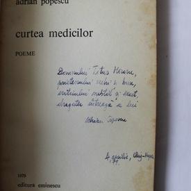 Adrian Popescu - Cartea medicilor (cu autograf)