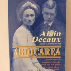 Alain Decaux - Abdicarea