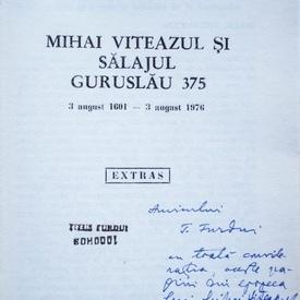 Alexandru Matei (coord.) - Mihai Viteazul si Salajul Guruslau 275 (cu autograf)